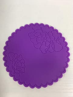 Nicewell Rubber Coaster Colorful Coaster Cup Mat Non-Slip Hot Pads (Purple)
