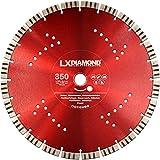 LXDIAMOND, disco diamantato da 350mm x 25,4mm segmenti premium da 15mm adatto per calcestruzzo calcestruzzo acciaio cemento lavato disco diamantato universale per smerigliatrice angolare da 350 mm