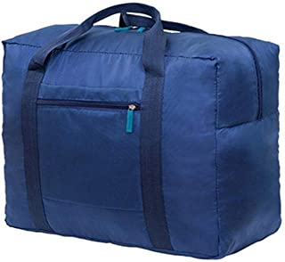 Waterproof Nylon Foldable Travel Bag Storage Duffel Bag Packable Lightweight Luggage Bag for Men and Women Blue