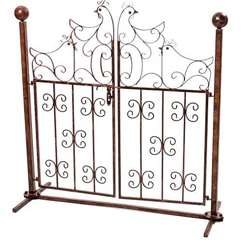 Decorazione Porta Giardino cancello polli Metallo Stile Antico cancello Giardino