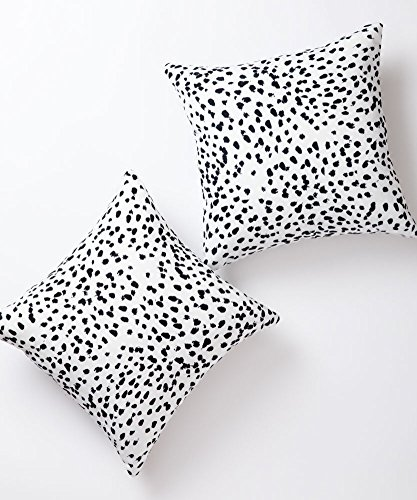 Pantaknot Dalmatian Spots Decorative Throw Pillow Covers Set of 2 Cheetah Pillowcase Cushion Home Décor, 18 x 18 Inch