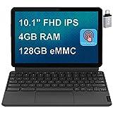 2020 Latest Lenovo Chromebook Duet 2 in 1 Tablet I 10 1' FHD (1920 x 1200)IPS Touchscreen I MediaTek Helio 8-Core P60T I 4GB RAM 128GB eMMC I WiFi ARM G72 MP3 Chrome OS + iCarp USBCToggle