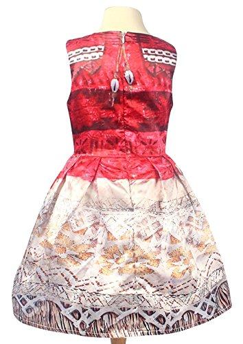 La Señorita Vaiana Moana Vestido Disfraz para niña + Collar + ...