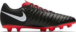 Men's Legend 7 Club MG Soccer Shoes (11.5, Black/Pure Platinum/Lt Crimson)