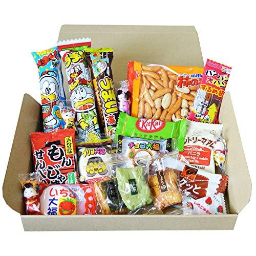 AKIBA KING Kameda Crisps und OKAKI-Reiscracker Japanisches Dagashi Snack Probierpaket Kit Kat Schokoladengeschenk Aufkleber