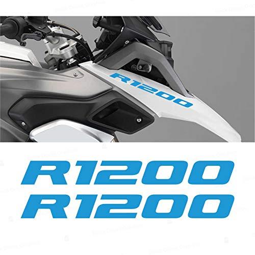 2 pegatinas R1200 compatibles con Moto Motorrad R1200GS ADVENTURE R 1200 GS (azul claro)