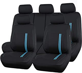 100/% Breathable With 5mm Composite Sponge Inside,Airbag Compatible by CAR PASS NEW ARRIVAL CAR PASS Line Rider 11PCS Universal Fit Car Seat Cover Black and Gray