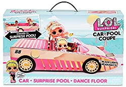 DRIVE IN STYLE - L.O.L. Surprise! dolls can drive in style...The fiercely stylish L.O.L. Surprise! Car-Pool Coupe has a luxe rose gold finish with glam pink details. EXCLUSIVE DOLL INCLUDED - Includes exclusive L.O.L. Surprise! doll, Drag Racer! Shin...