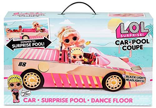 L.O.L. Surprise Voiture-piscine coupé avec poupée exclusive, piscine surprise, piste de danse et bien plus