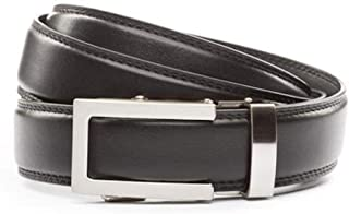 """Anson Belt & Buckle - Men's 1.25"""" Traditional Silver Buckle with Ratchet Belt Strap"""