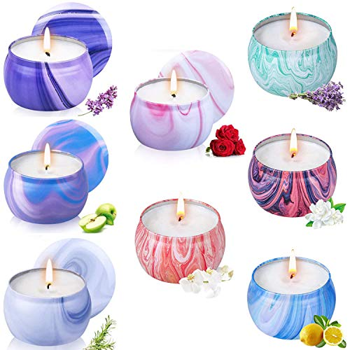 YIHANG Large Scented Candles Gifts for Women Natural Soy Wax Portable Travel Fragrance Xmas Gifts on Birthday for Bath Yoga Aromatherapy