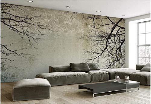 Fototapete 3D Tapeten Wandbilder Vintage Zweig Himmel Benutzerdefinierte Größe Tapete