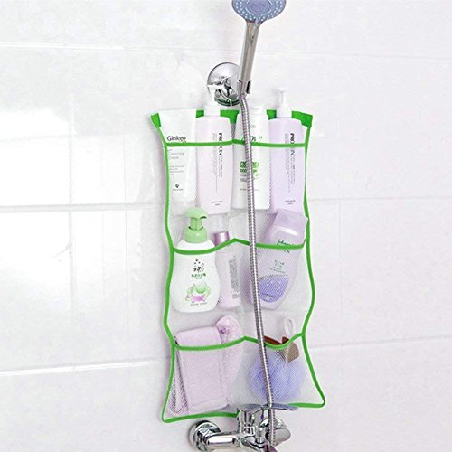 FishMM Mesh Bath Organizers for Shower with Hook, Quick Dry Hanging Shower...