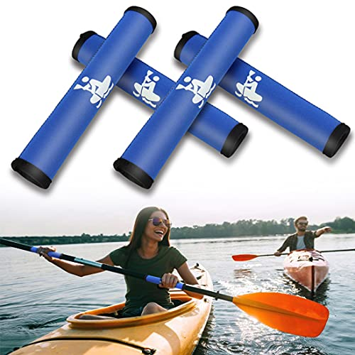 Boaton Kayak Paddle Grips, Non-Slip Paddle Grip for Take-Apart Kayak Paddle Shaft, Prevent Blister and Callouses, Make Kayaking Easier and Comfortable, Kayak Accessories, Pack of 4, Blue