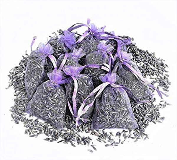 Keepfit Sachets Craft Bag With Dried French Lavender Flower Buds 12 Pack