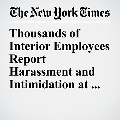 Thousands of Interior Employees Report Harassment and Intimidation at Work copertina