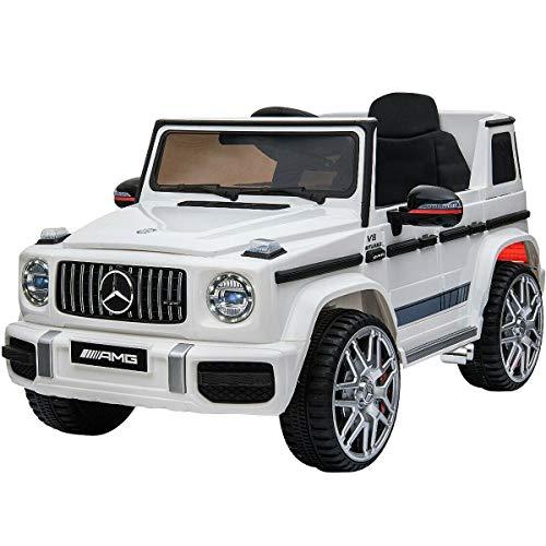 電動乗用カー 乗用ラジコン メルセデスベンツ G63 スモールサイズ 電動乗用ラジコンカー 乗用玩具 電動カー 車のおもちゃ 乗物玩具 (WHITE)