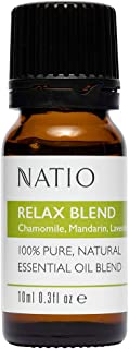 Natio Pure Essential Oil Blend, Relax 10 ml, Relax, 10 ml