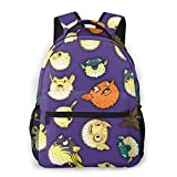 NiYoung Men Women Fashion College School Daypack Multipurpose Boys Girls Gift Travel Business Backpack for Sports Outdoors Running (Unique Pufferfish)