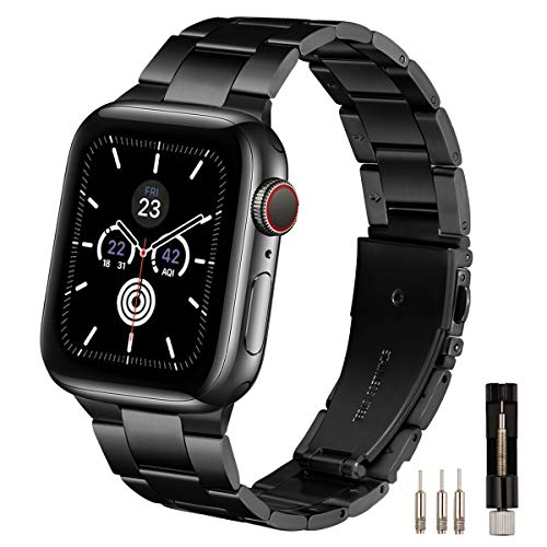 LovRug Metal Straps Compatible with Apple Watch Strap 44mm 42mm 40mm 38mm, Premium Stainless Steel...