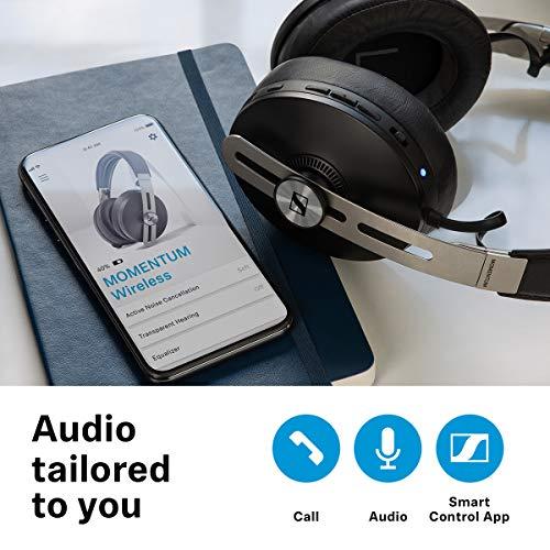 Sennheiser Momentum 3 Wireless Cuffia Noise Cancelling con Funzioni Auto On/Off e Smart Pause e con App Smart Control, con Alexa Integrata, Nero