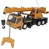 Zerodis- 1:24 Échelle Grue Véhicule de Construction RC Télécommande Jouet Voiture D'ingénierie Miniatures Modèle Engins de Chantier Camion de Simulation Jouet Cadeau Educatif pour Garçon Fille 3 Ans