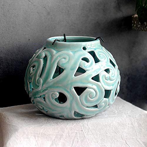 zenggp Bougeoir en Céramique Décoré De Bougeoirs Décoratif pour Chandelier