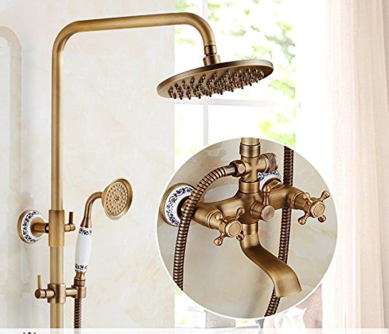 GFEI Antique shower head set   European style all copper bathroom, retro bathroom, shower head, shower, bath faucet,J
