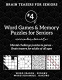 Brain Teasers for Seniors #4: Word Games & Memory Puzzles for Seniors. Mental challenge puzzles & games – Brain teasers for adults for all ages