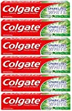 Colgate Sparkling White Whitening Toothpaste, Mint - 8 ounce (6 Pack)