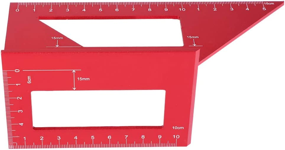Sales results No. 1 45 90 Degree Angle Gauge Ruler Aluminum Alloy Square Pra discount
