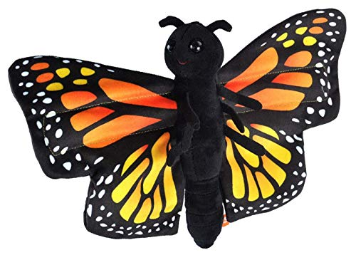 Wild Republic Huggers Butterfly Monarch Plush Toy, Slap Bracelet, Stuffed Animal, Kids Toys, 8'