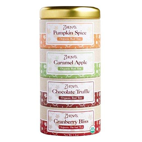 Zhena's Gypsy Organic Tea Harvest Sampler Tin, 16 Tea Sachets