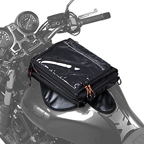 DOPPELGANGER(ドッペルギャンガー) ライダーズタンクバッグ 【可変システム搭載】 ライダーの「今」必要な形に変化する。着脱式マップケース、圧倒的なスピードで着脱可能 DBT525-BK ブラック 25×32×10