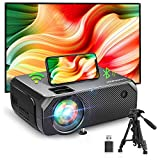 BOMAKER WiFi Projector, 2021 Upgraded Portable Movie Projector, Full HD Native 720P Wireless Outdoor Gaming Projector, 300'' Display for iOS / Android / Laptops / PCs