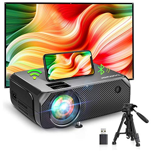BOMAKER WiFi Projector, 2021 Upgraded Portable Movie Projector, Full HD...