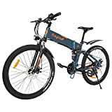 """Eleglide F1 Bicicletta Elettrica Pieghevole 26"""", Mountain bike, Elettrica Bici per Uomo/Donna, E-Bike City Bike per Adulti, Batteria rimovibile 10,4 Ah Cambio Shimano - 21 Velocità"""