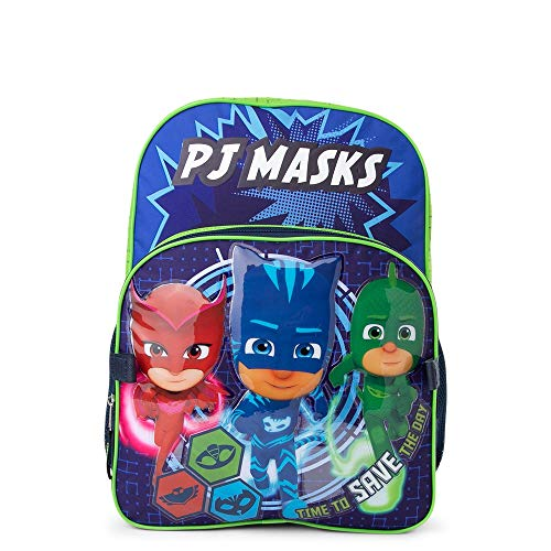 PJ Masks School Backpack Bookbag Kids Boys Girls Toy + Name Tag