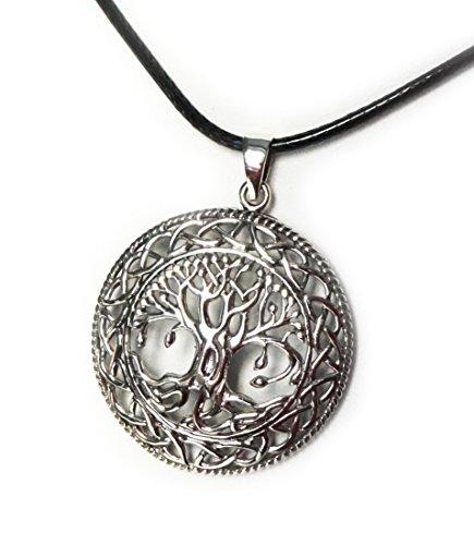 Anhänger Baum des Lebens Tree of Life Yggdrasil Weltenbaum - 925 Sterling Silber mit Kette - Yoga Esoterik Spiritualität Astrologie Energie
