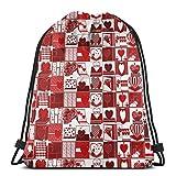 Mochila deportiva con cordón para tarjetas de felicitación de San Valentín, bolsa de viaje para niños, hombres y mujeres