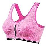 Bfmyxgs Frauen Sexy BH Aktive Yoga Sport Stilvolle Zip Front Sport-BH Mode Drahtlose Post Chirurgie Yoga BH unterwäsche Höschen