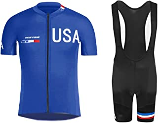 Uglyfrog 2019 Men's Summer Cycling Jersey Road Bike Set Short Sleeves Jersey + Bib Shorts Breathable and Quickly Dry USDXTZYSB05