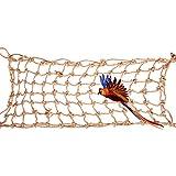 Felenny Loros Red de Escalada de Juguete Cuerda de Cáñamo Loros Medianos Grandes Columpios Colgantes Juego de Jaula de Juguete Adecuado para Todo Tipo de Loros Escalada