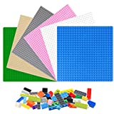 KONGDA 基礎板 ブロック 板 ベースプレート 互換性のある 32×32ポッチ 6枚セット 人気 クラシック 単面ブロックプレート 250個ブロック付け