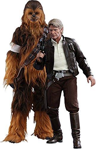 Hot Toys HT902761 - Juego de Figuras Han Solo y Chewbacca Star Wars The Force Awakens (Escala 1: 6)