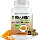 Turmeric Curcumin - 2250mg/d - Veggie Capsules - 95% Curcuminoids with Black Pepper Extract (Bioperine) - 100% Organic - Most Powerful Turmeric Supplement with Triphala (180 Count)