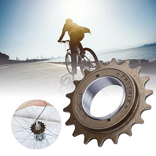 Bike Single Speed Freewheel, 18Teeth Bike Freewheel Cassette Sprocket One-Speed 16T Bicycle Replacement Accessory