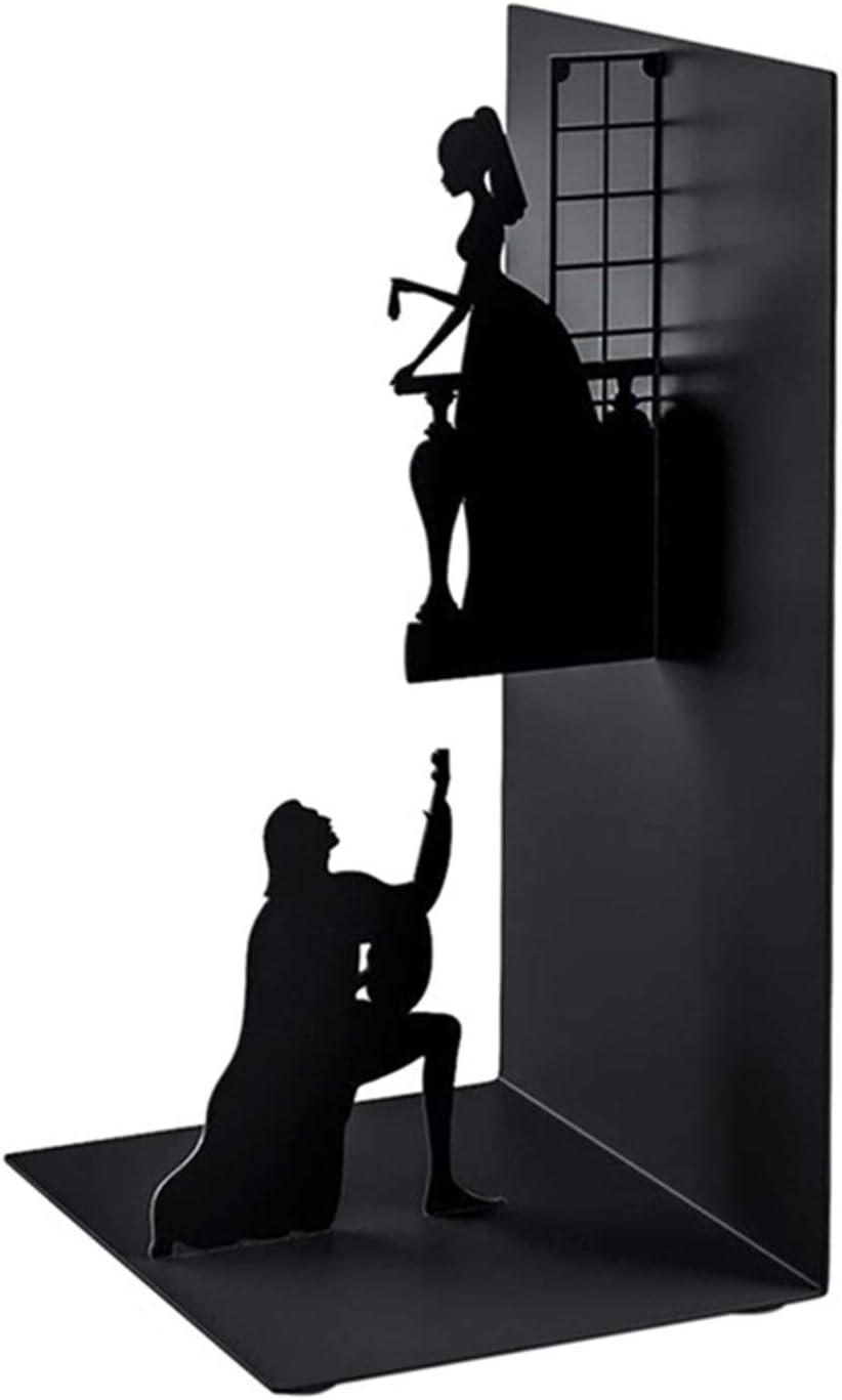 biblioth/èque Domeilleur Livre d/écoratif Moderne Simple Se termine en Fer Art Serre-Livres en m/étal Noir pour la Collecte dalbums CD Magazines Livres Lourds pour Bureau