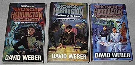 Honor Harrington series first three books: (#1) On Basilisk Station; (#2) The Honor of the Queen; (#3) The Short Victoriou...