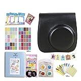 CAIUL Compatible Mini 9 Cámara Case Bundle con álbum, Filtros Otros Accesorios para Fujifilm Instax Mini 9 8 8+ (negro)